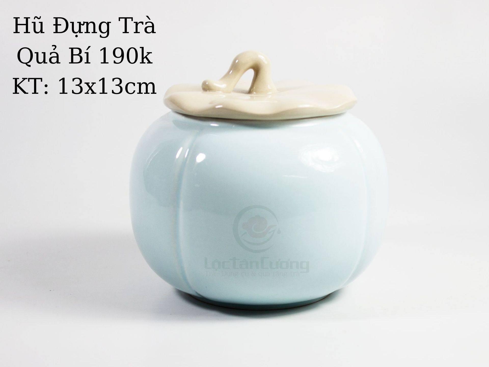 Hũ đựng trà Quả bí