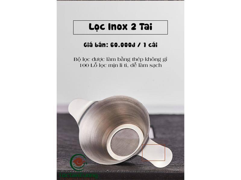 Lọc trà inox 2 tai